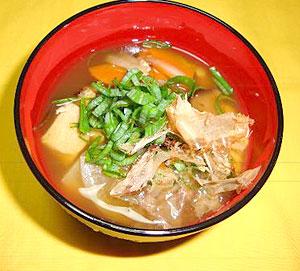 高野豆腐のけんちん汁